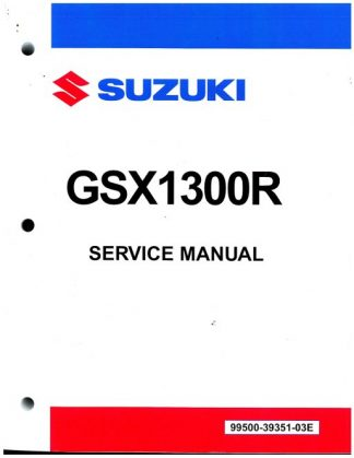 Official 2008-2011 Suzuki GSX1300R K8 K9 Hayabusa Factory Service Manual