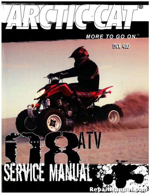 2008 Arctic Cat 400 Dvx Service Manual