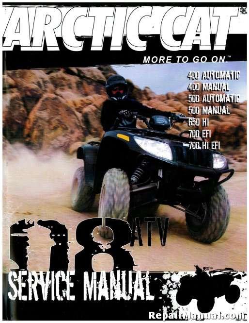2008 Arctic Cat 400 500 650 700 Atv Service Manual