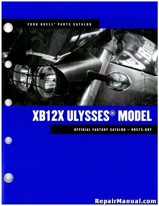 Buell xb parts catalog manual