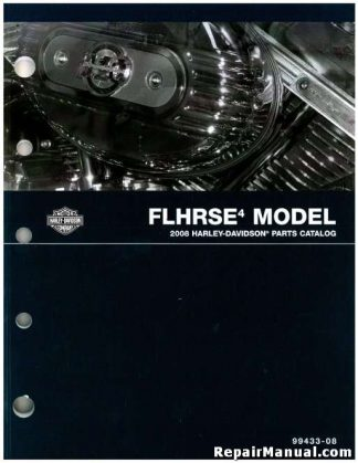 Official 2008 Harley Davidson FLHRSE4 Parts Manual