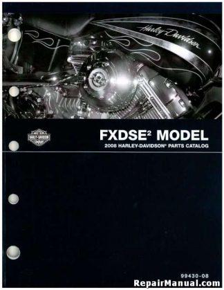 Official 2008 Harley Davidson FXDSE2 Parts Manual