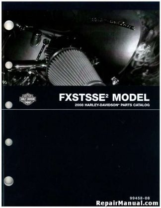 Official 2008 Harley Davidson FXSTSSE2 Parts Manual
