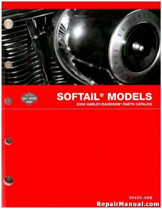 Official 2008 Harley Davidson Softail Parts Manual