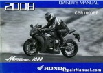 Official 2008 Honda CBR1000RR Factory Owners Manual