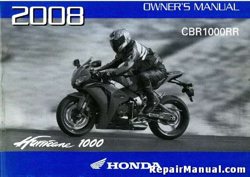 2008 honda cbr1000rr motorcycle owners manual rh repairmanual com 2008 cbr1000rr owners manual 2008 cbr1000rr service manual