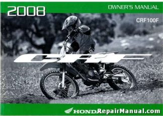 Official 2008 Honda CRF100F Factory Owners Manual