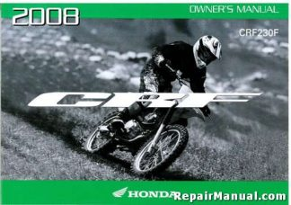 Official 2008 Honda CRF230F Motorcycle Factory Owners Manual