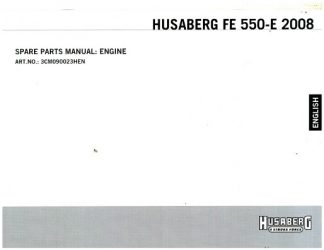 Official 2008 Husaberg FE550-E Engine Parts Manual