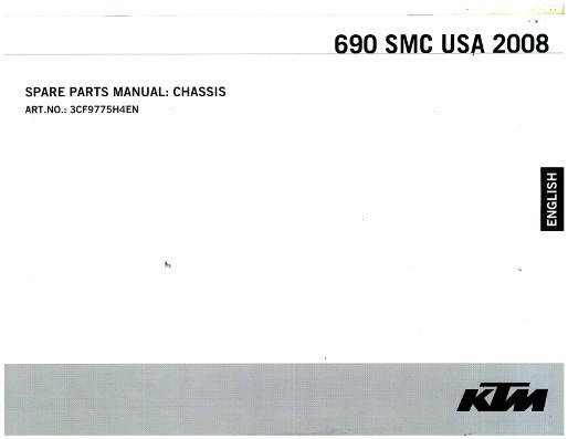 2008 ktm 690 smc usa chassis spare parts manual. Black Bedroom Furniture Sets. Home Design Ideas