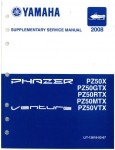 Used Official 2008 Phazer Venture Lite Yamaha PZ50 Snowmobile Factory Supplementary Service Manual