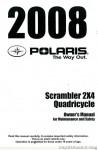 Official 2008 Polaris Scrambler 500 2X4 International Factory Owners Manual