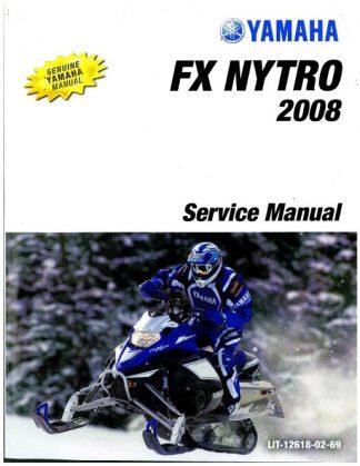Official 2008 Yamaha FX Nytro FX10 Snowmobile Factory Service Manual