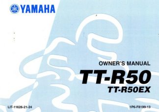 Official 2008 Yamaha TTR50EX Owners Manual