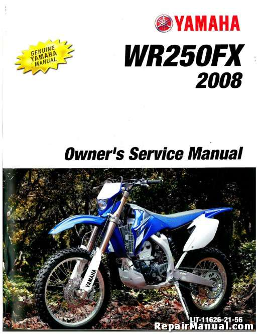 Yamaha wr250f x 2008 service repair manual for Yamaha ysp 5600 manual