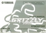 Official 2008 Yamaha YFM350FGIX Grizzly Owners Manual