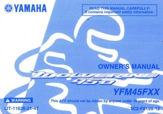 Official 2008 Yamaha YFM450FXX Wolverine Owners Manual