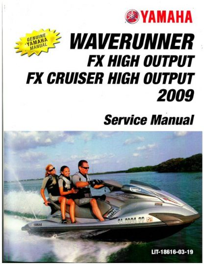 Used 2009-2010 Yamaha FX High Output FY1800 WaveRunner Factory Service Manual