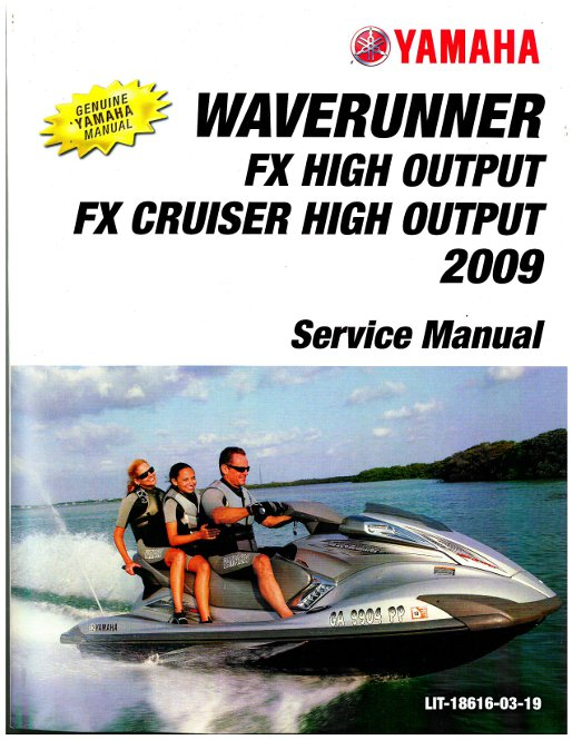 used 2009 2010 yamaha fx high output fy1800 waverunner service manual rh repairmanual com 2009 Yamaha FX Cruiser Sho Specs 2009 yamaha vx cruiser service manual