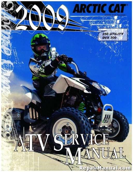 2009 Arctic Cat 250 Utility 300 Dvx Service Manual