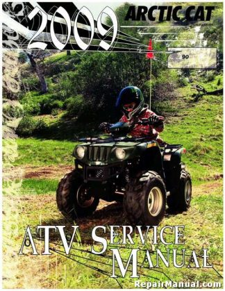 Official 2009 Arctic Cat 90 Utility 90 DVX Factory Service Manual