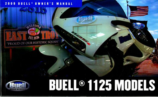 2009 Buell 1125R Motorcycle Owners Manual