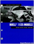 Official 2009 Buell 1125R Factory Parts Manual