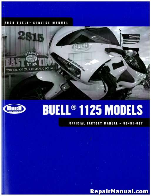 2009 Buell 1125R Motorcycle Service Manual