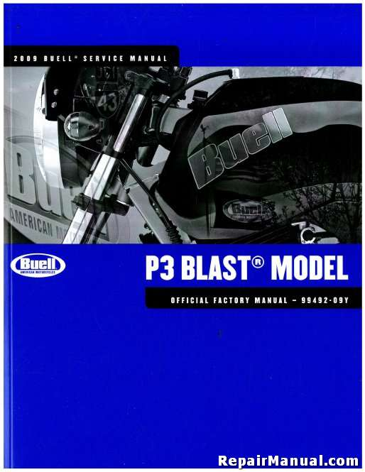 2009 buell p3 blast motorcycle service manual