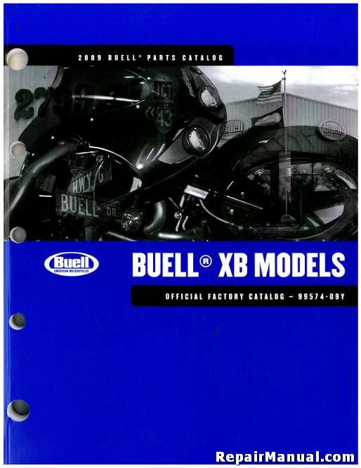 2009 Buell XB Motorcycle Parts Manual