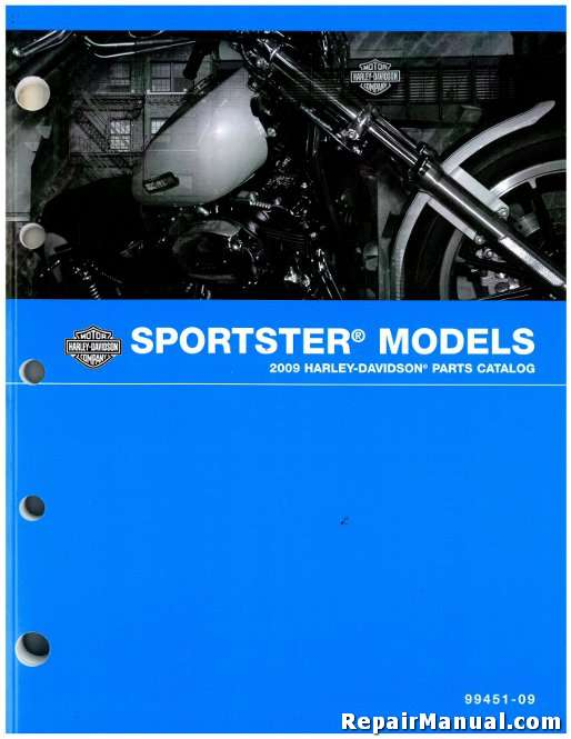 2009 harley davidson sportster xl motorcycle parts manual rh repairmanual com harley davidson repair manual 99501-09 harley davidson repair manual 1983