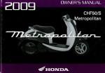 Official 2009 Honda CHF50 Metropolitan Factory Owners Manual