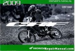 Official 2009 Honda CRF100F Factory Owners Manual