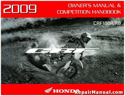 Official 2009 Honda CRF150R Expert Motorcycle Factory Owners Manual