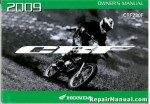 Official 2009 Honda CRF230F Motorcycle Factory Owners Manual