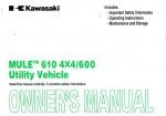 Official 2009 Kawasaki KAF400A B C Mule 610 4x4 600 Factory Owners Manual