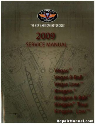 Used Official 2009 Victory Kingpin Tour Low 8-Ball Vegas Factory Service Manual