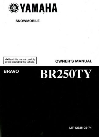 Official 2009 Yamaha BR250TY Bravo Snowmobile Owners Manual