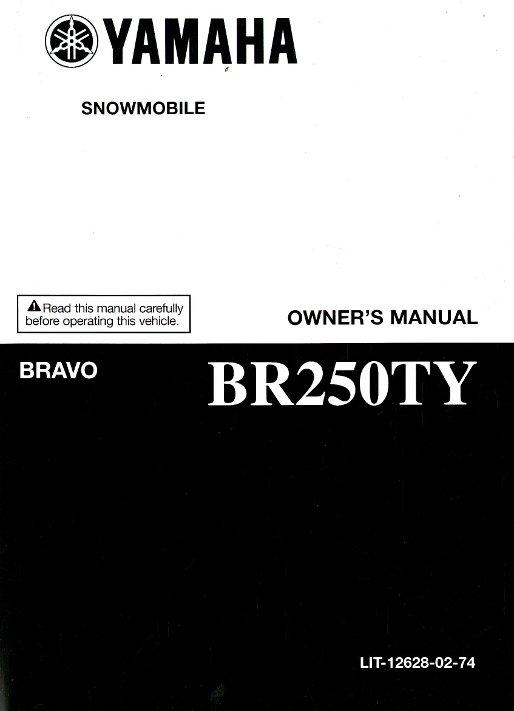 2009 Yamaha Br250ty Bravo Snowmobile Owners Manual