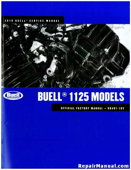 2010 Buell 1125R Motorcycle Service Manual
