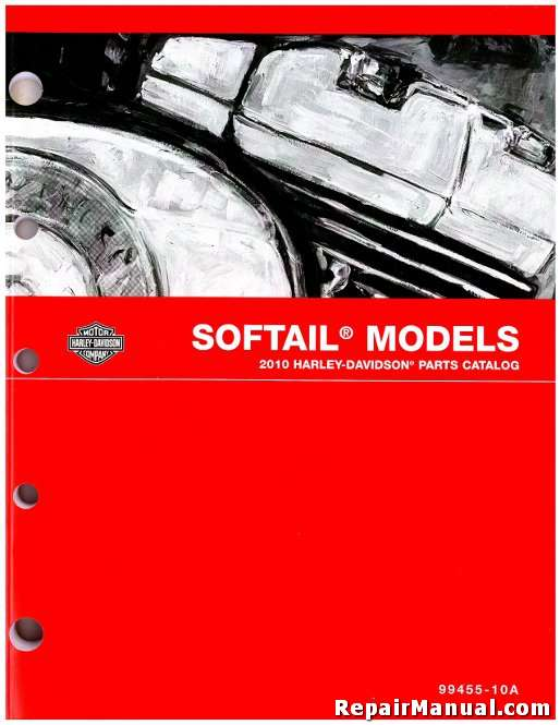 2010 Harley Davidson Softail Motorcycle Parts Manual