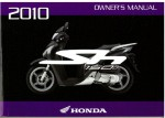 Official 2010 Honda SH150i Factory Owners Manual