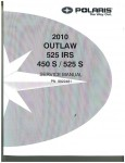 2010 Polaris Outlaw 450S 525S 525 2X4 ATV Repair Service Manual