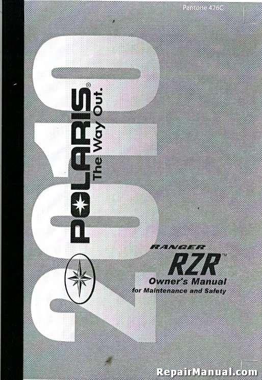 2010 polaris ranger rzr 800 efi utv side by side owners manual rh repairmanual com Polaris Ace Polaris General