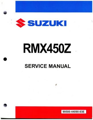 Official 2010 Suzuki RMX450ZL0 Factory Service Manual