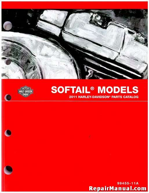 2012 Harley Davidson Softail Motorcycle Parts Manual