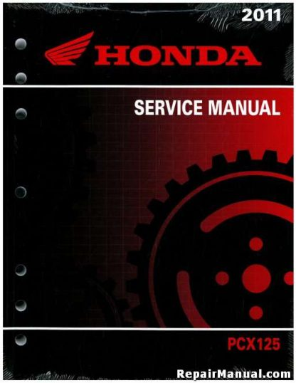 Official 2011 Honda PCX125 Scooter Factory Service Manual