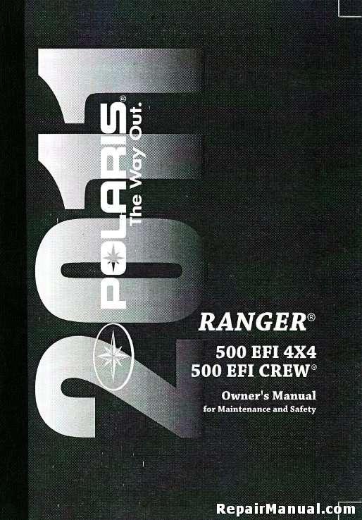 2011 polaris ranger 4 4 500 efi side by side owners manual rh repairmanual com 2011 wrangler owners manual 2011 polaris ranger service manual