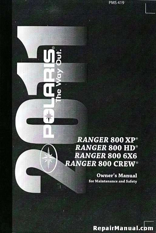 2011 Polaris Ranger 800 Xp Hd 6x6 Crew Owners Manual
