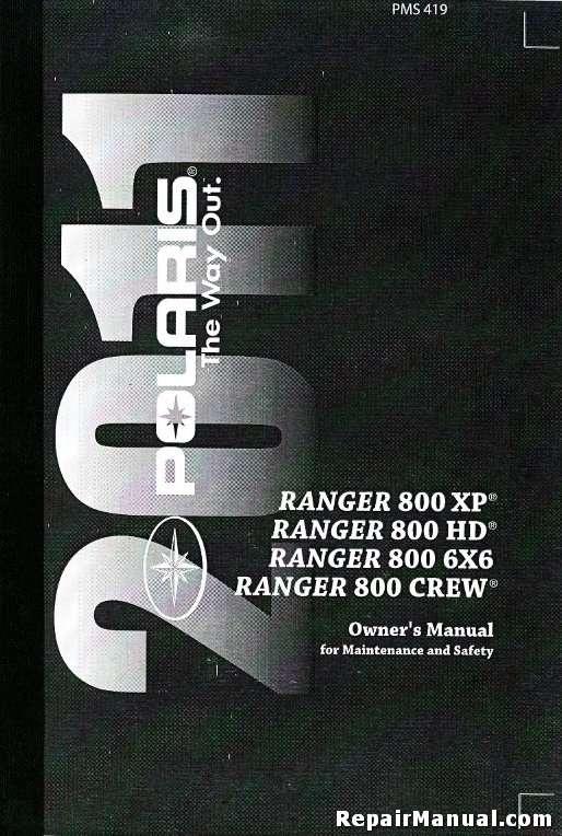 2011 Polaris Ranger 800 Xp Hd 6x6 Crew Owners Manual